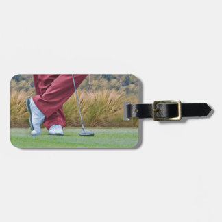 Golf Tee Time Customizable Luggage Tag