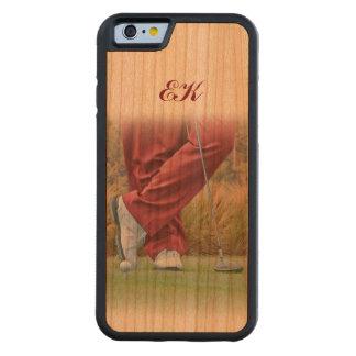 Golf Tee Time Customizable Monogram Cherry iPhone 6 Bumper