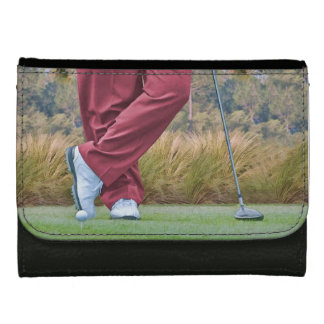 Golf Tee Time Customizable Wallet