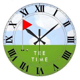 golf tee time large clock