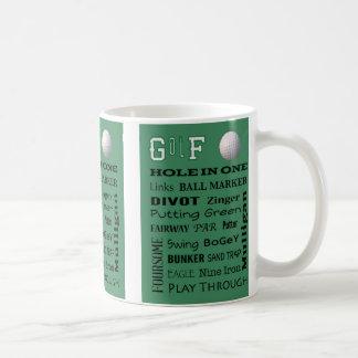 GOLF Terminology Coffee Mug