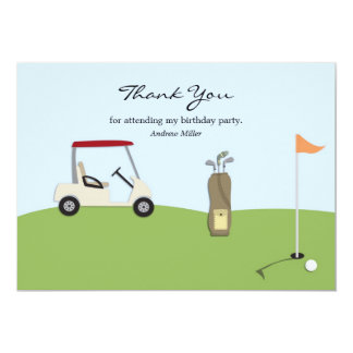 "Golf Thank You Flat Card 5"" X 7"" Invitation Card"