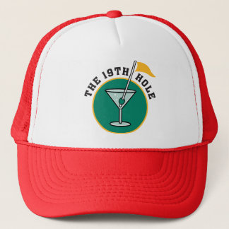 Golf The 19th Hole Drinking Trucker Hat