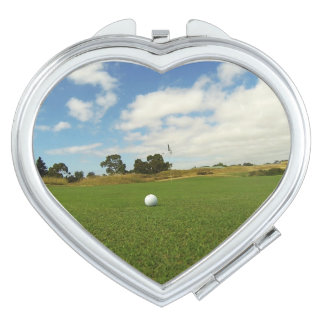 Golf The Game, Ladies Heart Compact Mirror
