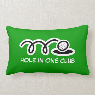 Golf theme throw pillow with funny quote