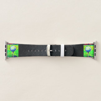 Golf Themed Black Diamond Plate Apple Watch Band