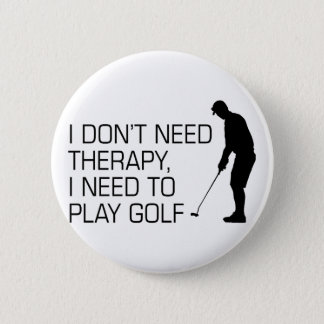 Golf Therapy 2 Inch Round Button