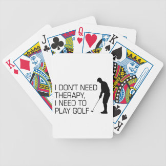 Golf Therapy Bicycle Playing Cards