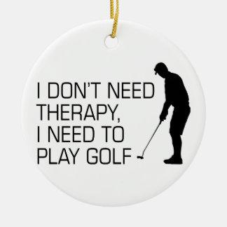 Golf Therapy Ceramic Ornament