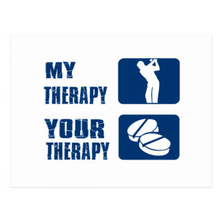 golf therapy designs postcard