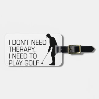 Golf Therapy Luggage Tag