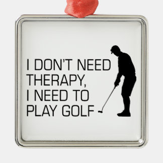 Golf Therapy Metal Ornament