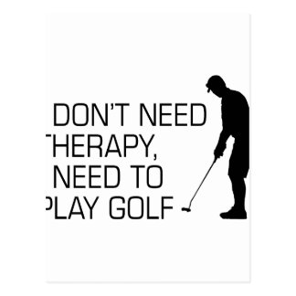 Golf Therapy Postcard