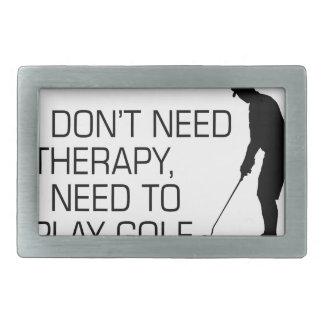 Golf Therapy Rectangular Belt Buckle