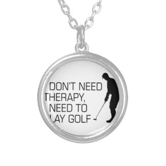 Golf Therapy Silver Plated Necklace