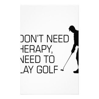 Golf Therapy Stationery