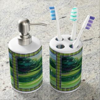 Golf Toothbrush Holder and Soap Dispenser