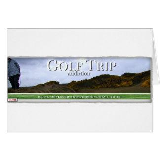 Golf Trip Addiction Card