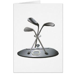 Golf Trophy Card
