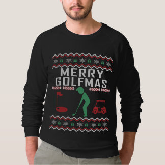 Golf Ugly Christmas Sweater Merry Golfmas