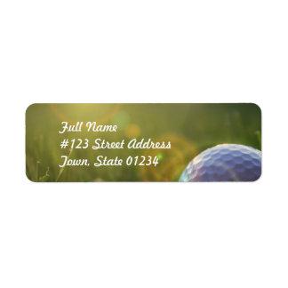 Golf un jour ensoleillé étiquettes d'adresse retour