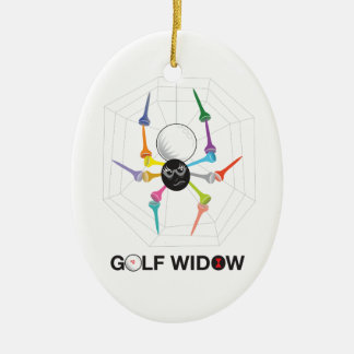 Golf Widow Black Widow Spider Tees_personalized Ceramic Ornament