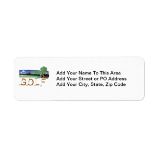 Golf With Golf Carts Tshirts and Gifts Return Address Label