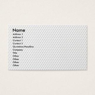 Golfball Business Card