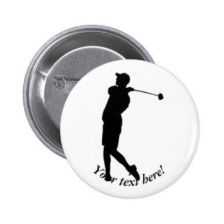 Golfer 2 Inch Round Button
