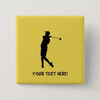Golfer 2 Inch Square Button