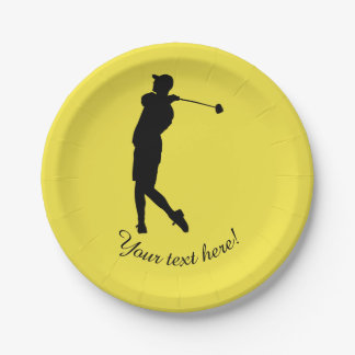 Golfer 7 Inch Paper Plate