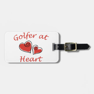 Golfer at Heart Luggage Tag