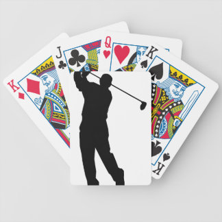 Golfer Bicycle Playing Cards