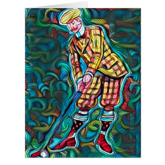 Golfer - Big Greeting Card