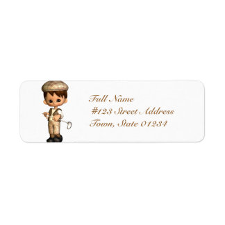 Golfer Caricature Mailing Labels