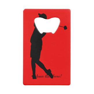 Golfer Credit Card Bottle Opener