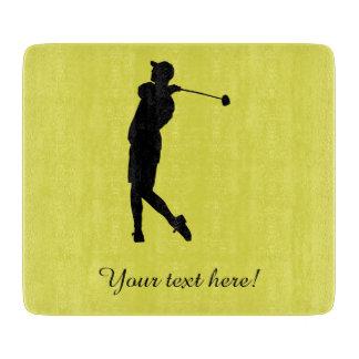 Golfer Cutting Board