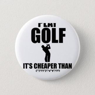 golfer designs 2 inch round button