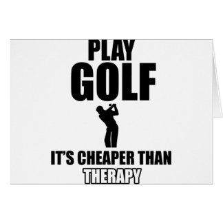 golfer designs card