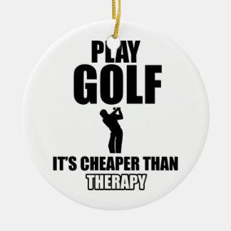 golfer designs ceramic ornament
