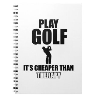 golfer designs notebooks