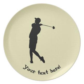 Golfer Dinner Plate