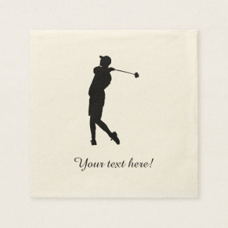 Golfer Disposable Napkins