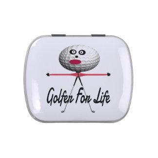 Golfer for Life Cartoon