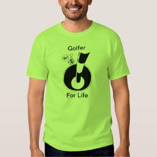 Golfer For Life Cartoon Humour Shirt
