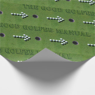 GOLFER FUNNY GIFTS, GOLF PUTTING GREEN FUN STAFF WRAPPING PAPER