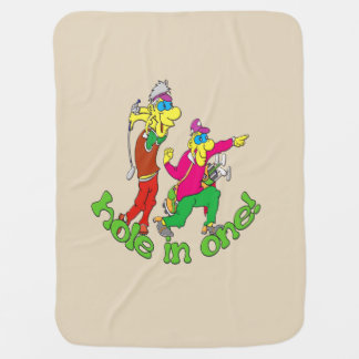 Golfer getting a Hole in one Baby Blanket