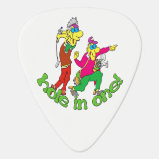 Golfer getting a Hole in one Guitar Pick