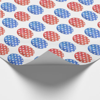 GOLFER GIFT WRAP,   AMERICAN FLAG GOLF BALLS WRAPPING PAPER