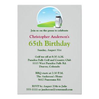 Golfer Golf Golfing 65th Birthday Invitation